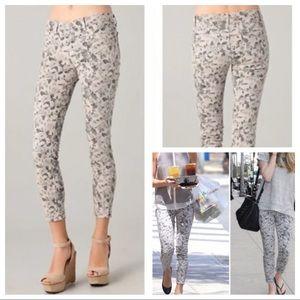 J BRAND Capri Skinny Sugar Cane Mini Floral Jeans